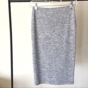 Forever 21 Grey Stretch Pencil Skirt